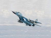 Боевой МиГ-29 на взлете