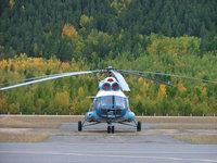 Вертолет на взлетном поле