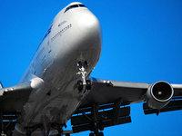 Самолёт Boeing 747 крупным планом