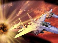 Бой в небе военных самолётов