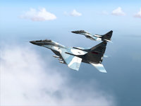 Российские военные самолёты в небе