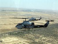 Вертолеты в небе на задании