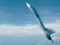 Су-27 истребитель-перехватчик в полёте