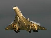 Самолёт Concorde летит в воздухе