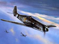 Эскадрилья самолётов люфтваффе в небе