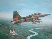 Военные американские самолёты летят над рекой