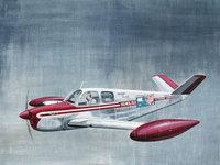 Рисунок частного легкого самолёта с надписью