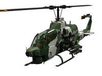 3D модель камуфлированного вертолета