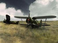 Одномоторные самолёты Второй мировой на поле