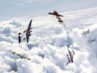 Подбитый самолёт стремительно падает