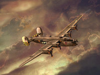 Американский бомбардировщик времён Второй мировой