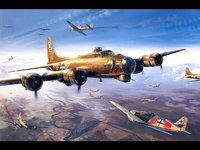 Воздушный бой самолётов Второй мировой войны