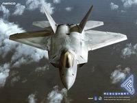 Истребитель пролетает над слоем облаков