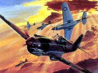 Разрисованные самолёты в небе