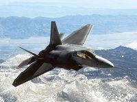 Истребитель F-22 Раптор (США) в полёте