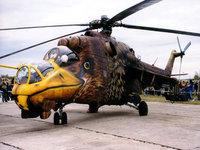 Разрисованный вертолёт орёл Ми-24