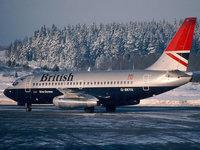 Зимняя посадка авиалайнера Британских авиалиний