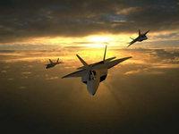 F22 Raptor на закате