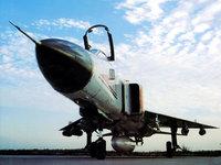 Старый российский истребитель с ракетами