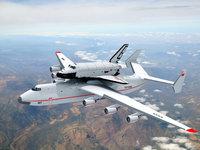 Antonov АН-225 МРИЯ, Буран в полёте