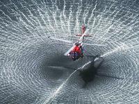 Волны на море от вертолёта