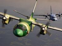 Военные самолёты высоко в небе