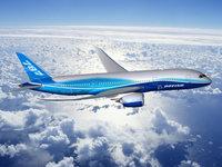 Boeing 787 Dreamliner над облаками