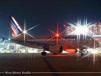Гражданская авиация в ночном аэропорту
