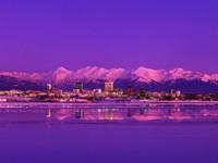 Вечерний Анкоридж, Аляска, США