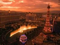 Лас-Вегас с фонтаном