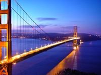Мост Золотые ворота Сан-Франциско, вечером