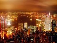 Город с небоскребами и заливом
