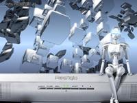 Робот на мониторе