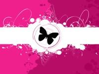 Черная бабочка на розовом