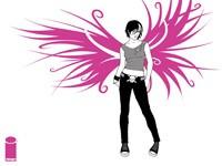 Девушка с розовыми крыльями