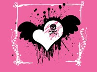 Сердце на розовом