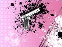 Пистолет на розовом