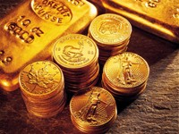 Монеты и слитки из золота