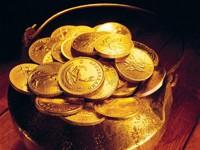 Куча золотых монет