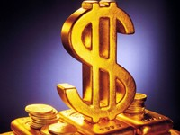 Золотой доллар с монетами