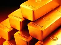 Блестящие слитки золота