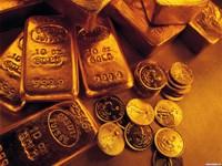 Золото из слитков и монет