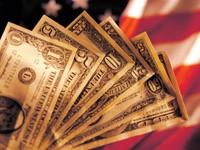 Разные номиналы долларов USA