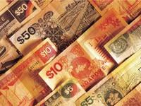 Макро фото Деньги Сингапура