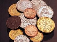 Монеты разного размера и вида