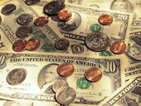 Монеты на купюрах USD