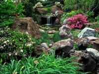 Сад камней с водопадом