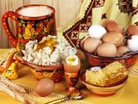 Творог с медом,молоко,яйца