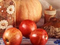 Яблоки, тыква и хлеб