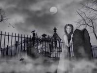 Призрак девушки у могилы